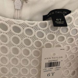 Ann Taylor Dresses - NWT Ann Taylor white midi dress